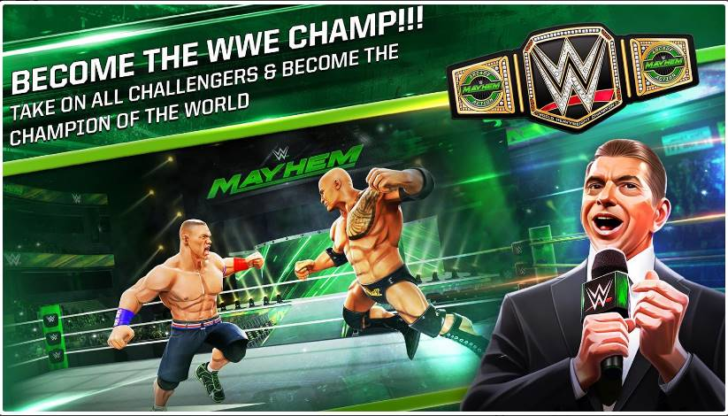 Free Download WWE Mayhem 1 2 26 – Android + Data – ithubpk-links